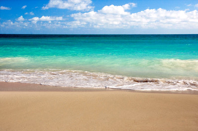 Waimanalo Beach has some of the most beautiful bright turquoise water, and powdery soft, white sand. Windward Oahu, Hawaii