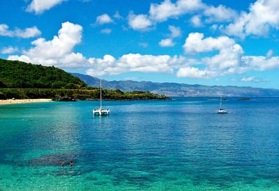 Waimea Bay in summerNorth Shore, O'ahu, Hawai'i