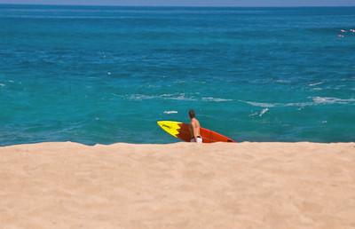 Sunset Beach  Surfer, Saturday Morning at North Shore of O'ahu