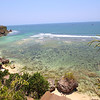 View from the cliff overlooking Padang Padang, Bali