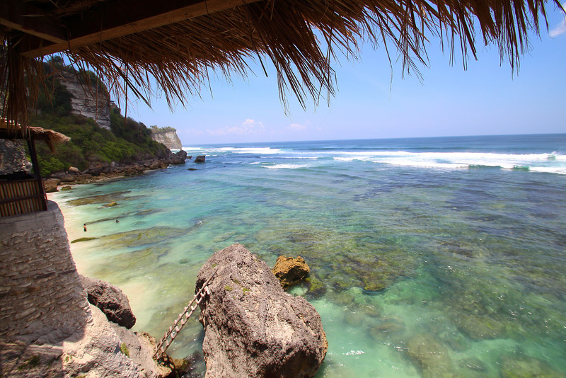 On top of the cave at Uluwatu. Not a bad place to have a Bintang and enjoy watching the surf.