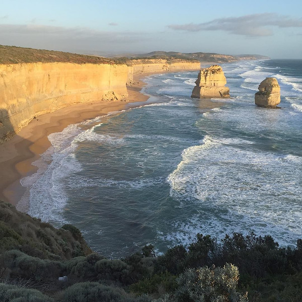 The 12 Apostles looking east on the Great Ocean Road. What you see is what you get -- light, shadows, hues and all. The epicenter of one of the world's more remarkable coastal road trips. Felt like Oz. #Australia via Instagram http://ift.tt/1QeG5nO