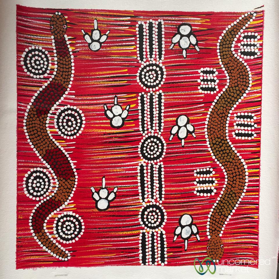 Aboriginal Art from the Salvation Army Gallery  - Alice Springs, Australia