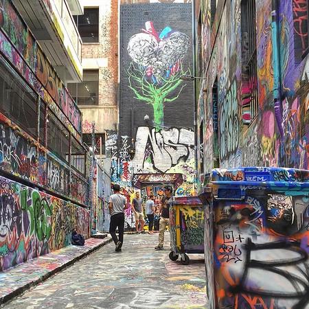 Melbourne Street Art, Rutledge Lane - Victoria, Australia