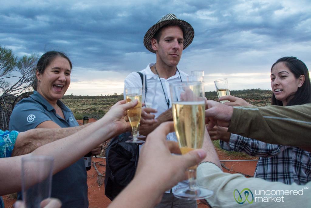 Sunset Champagne at Uluru - Northern Territory, Australia.