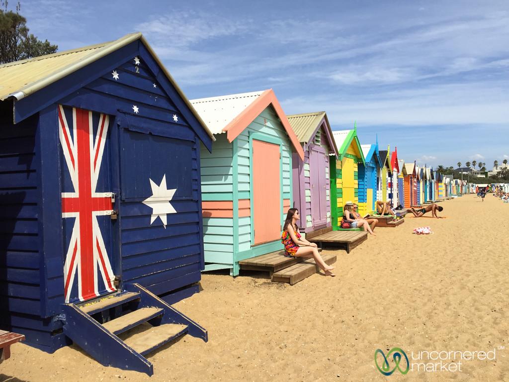 Brighton Beach Huts Outside Melbourne - Victoria, Australia