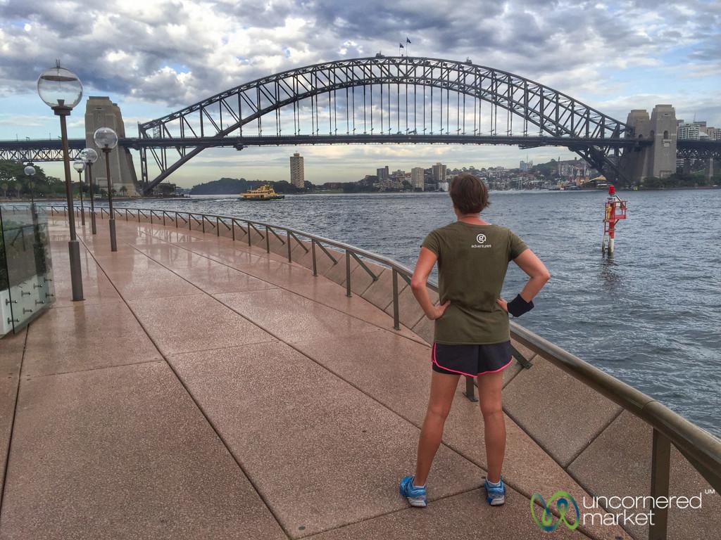 Morning Run in Sydney, Harbour Bridge - Australia