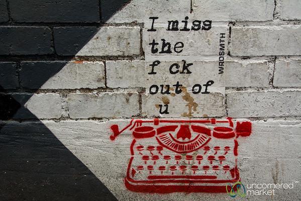 Clever Writer Street Art - Melbourne, Australia