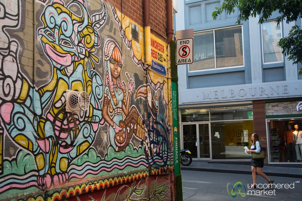 Melbourne Street Art on Side Lane - Victoria, Australia