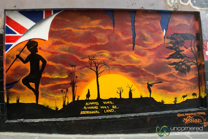 Sreet Art with a Message - Melbourne, Australia