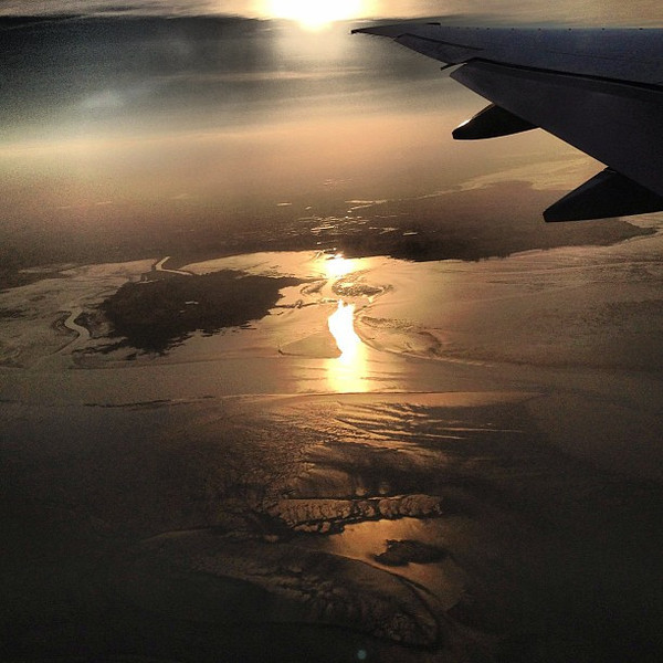 Sunrise descent into #Auckland, New Zealand #FlyAirNZ #dna2nz