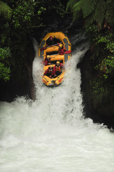 White Water Rafting Down 7 meter Waterfall - Kaituna, New Zealand