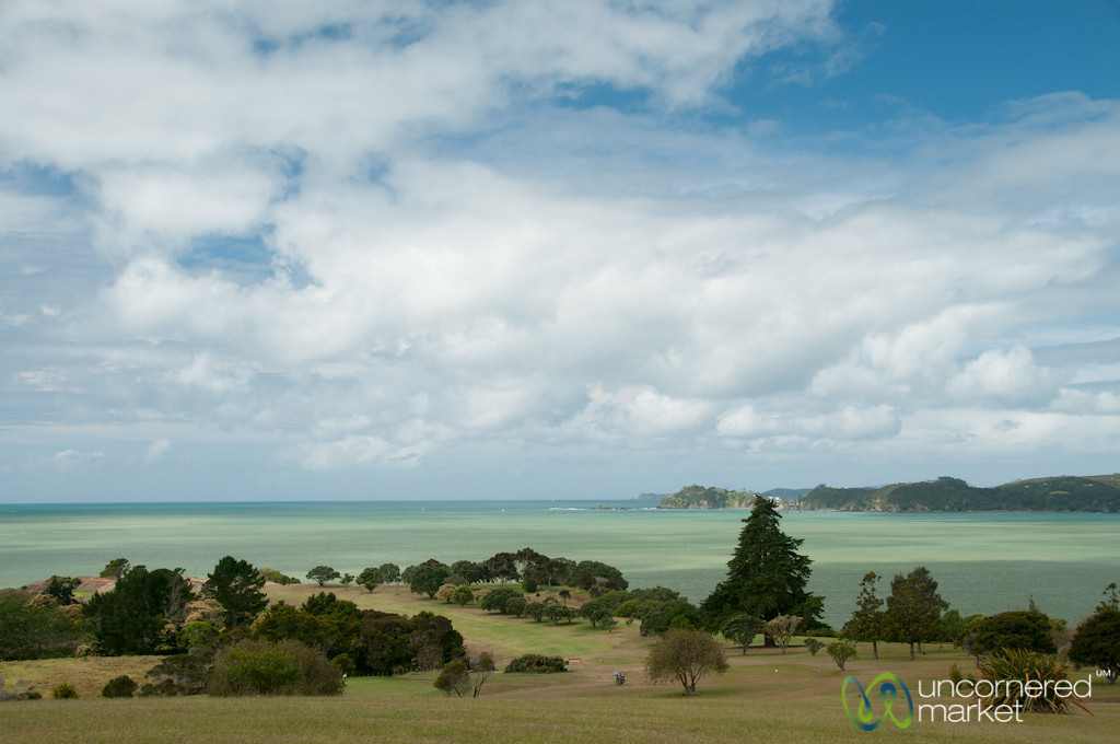 Golf Course and Green Waters - Paihia, New Zealand