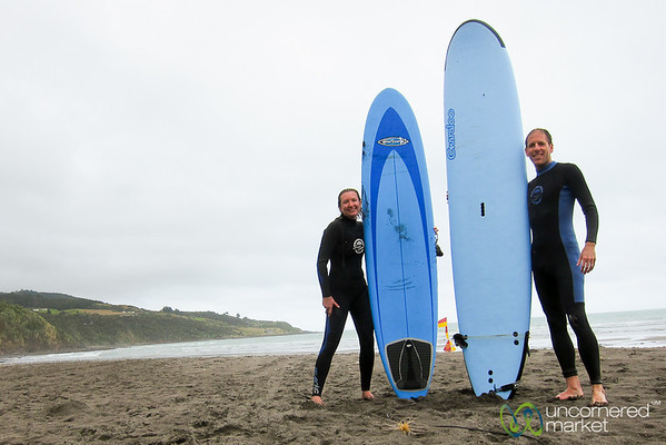 Learning to Surf in Raglan, New Zealand