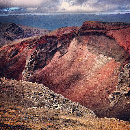 The blow-my-mind Red Crater of Mt. Tongariro, New Zealand