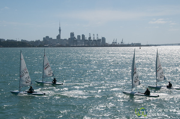 Sailing Outside Auckland, New Zealand
