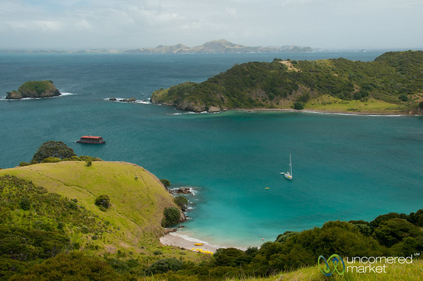 Bay of Islands - View from atop Waewaetorea Island, New Zealand