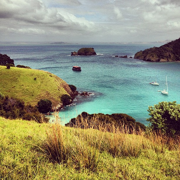 If it gets better than this, I'm going to faint. Waewaetorea Island, Bay of Islands, New Zealand