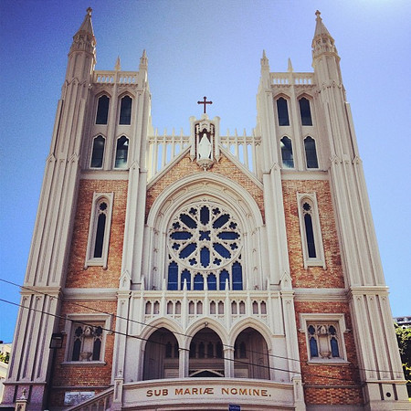 St. Mary of the Angels, a bit of French Gothic in downtown #Wellington, New Zealand