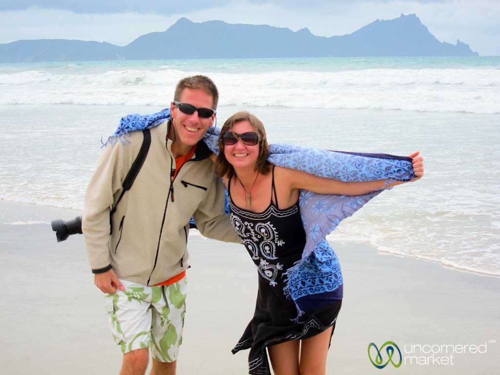 New Zealand Beach Stop at Uretiti Beach