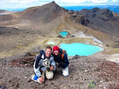 Dan and Audrey at the Emerald Lakes - New Zealand