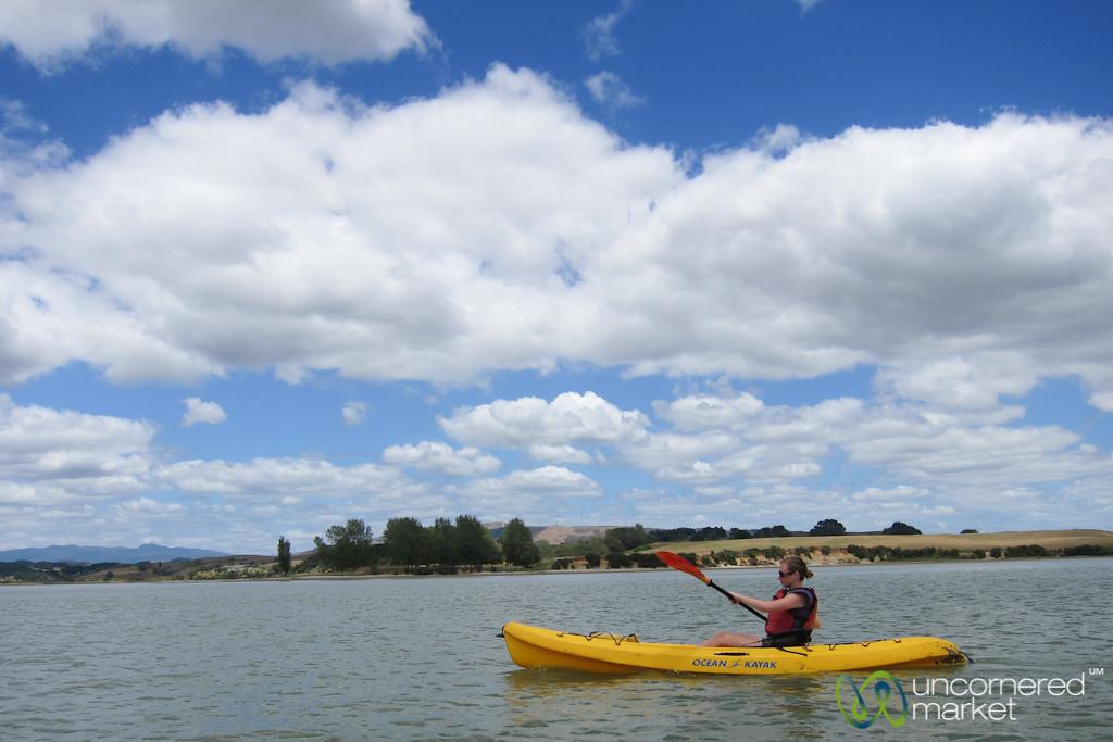 Kayaking Near Raglan - New Zealand