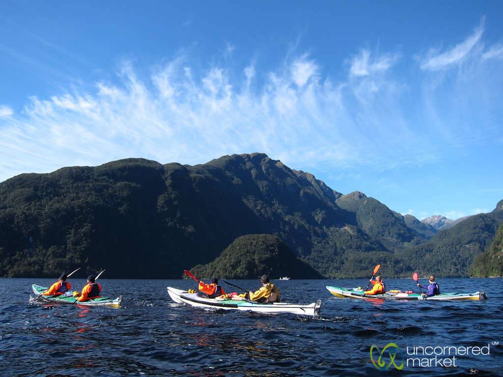 Kayaking at Dawn - Doubtful Sound, New Zealand