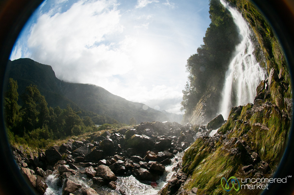 Helena Falls at Doubtful Sound - New Zealand