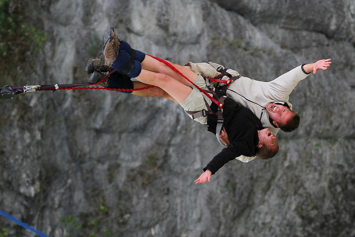 Tandem Bungee Jump for Valentine's Day - Kawarau Bridge, New Zealand