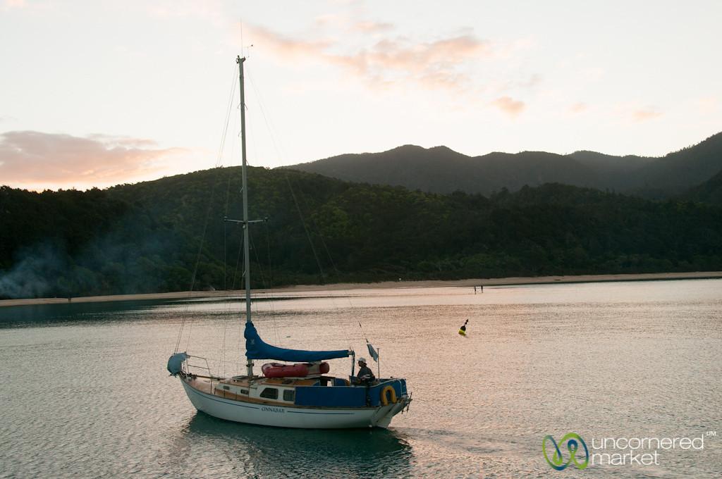 Sailboat at Anchorage - New Zealand