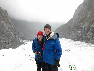 Dan & Audrey at Franz Josef Glacier - South Island, New Zealand