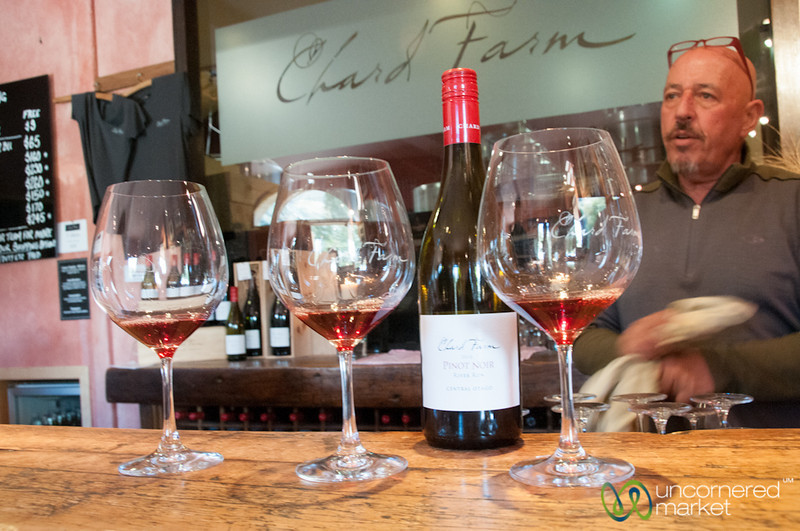 Wine Tasting at Chard Farm - Gibbston Valley, New Zealand