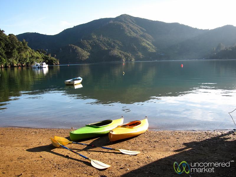 Kayaking on Queen Charlotte Sound - Lochmara Lodge, New Zealand