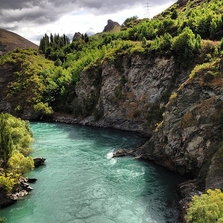 The gorge at Kawarau Bridge: A beautiful setting for a Valentine's Day bungee jump! #newzealand