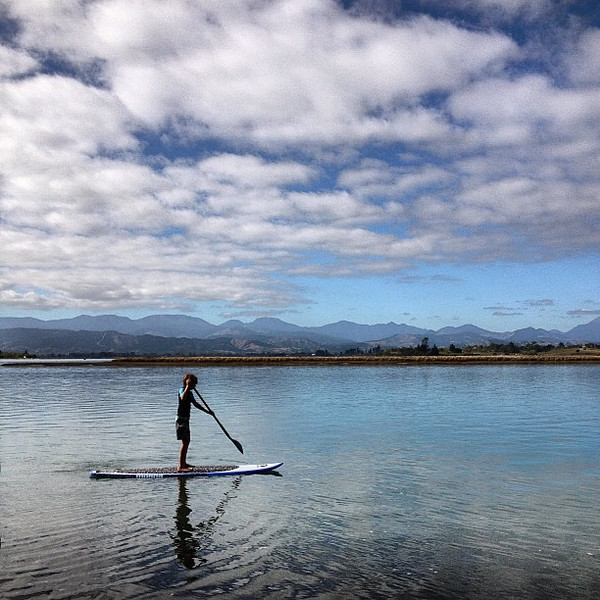 Mid-morning paddle boarding at Grossi Point Reserve in Mapua, #NewZealand. A chill way to start the day.