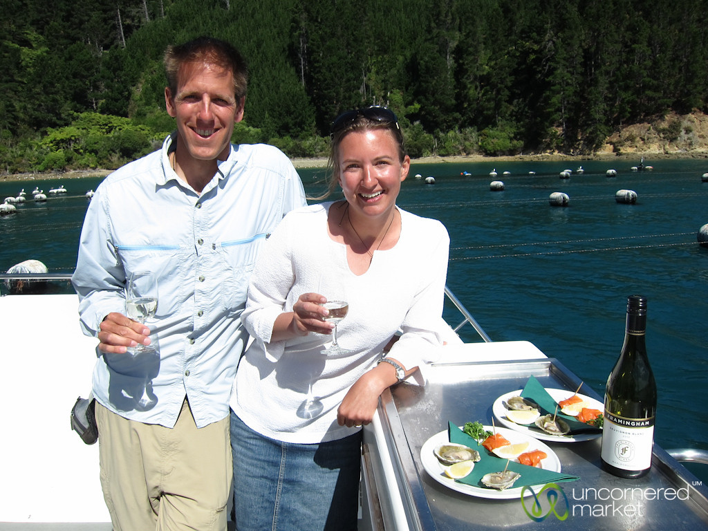 Dan & Audrey Enjoying Seafood Odyssea - Marlborough, New Zealand