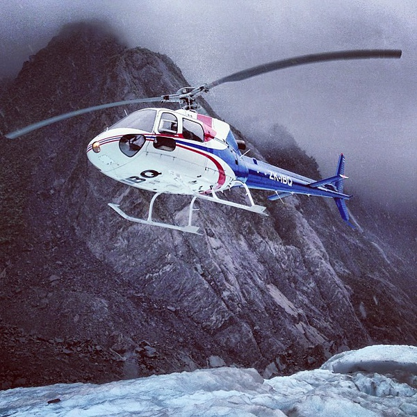 Franz Josef Glacier, a wild helicopter ride up the valley gets it all started!