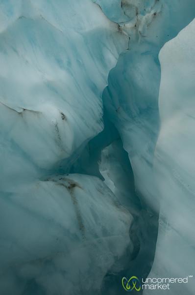Blue Ice at Franz Josef Glacier - South Island, New Zealand