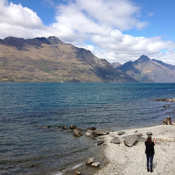We are wee. Today's #nofilter special from the shores of Queenstown's Lake Wakatipu