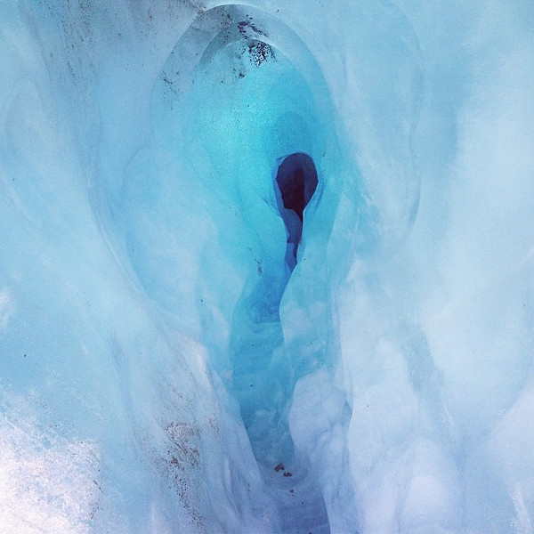Blue Ice Keyhole, found climbing Franz Josef Glacier, New Zealand