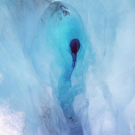 Blue Ice Keyhole, found climbing Franz Josef Glacier, New Zealand