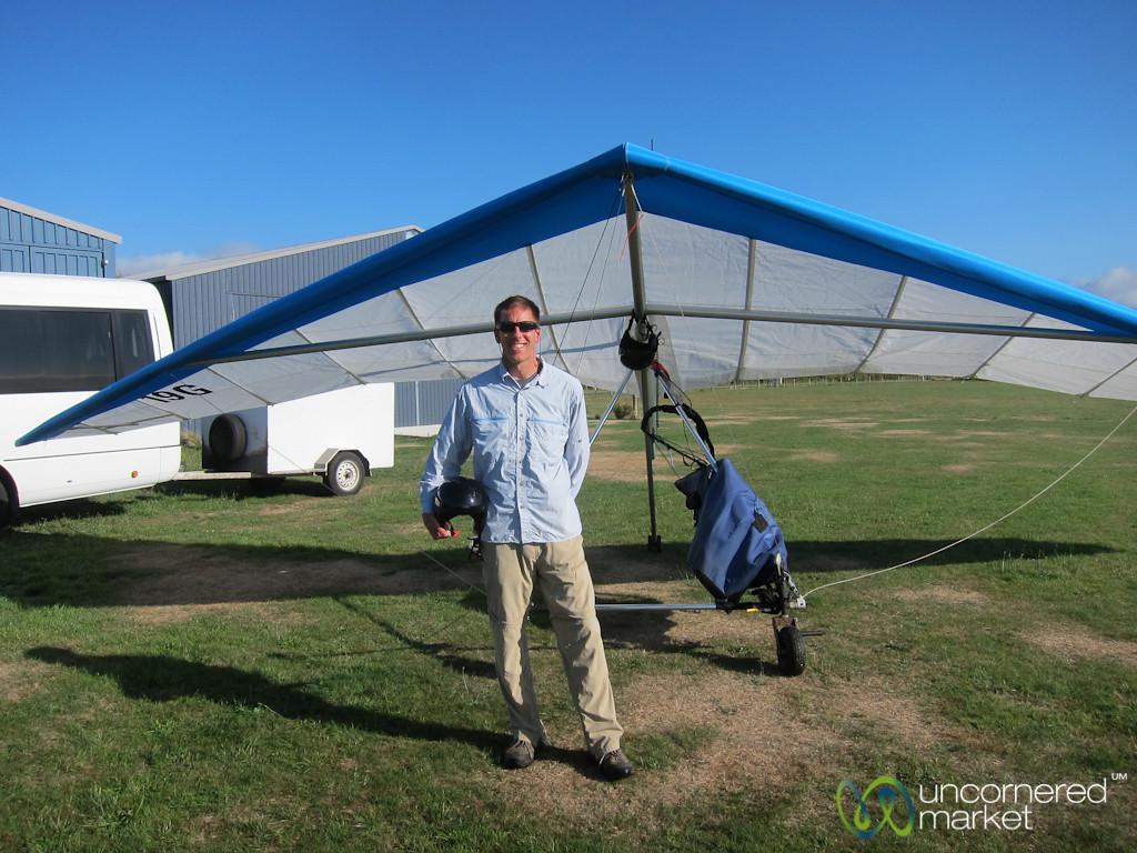 Dan at Hang Gliding - South Island, New Zealand