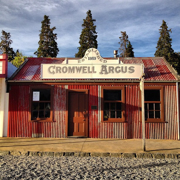 The nifty little 'burg of Cromwell. It's not a postcard, just a view of the old town. #newzealand