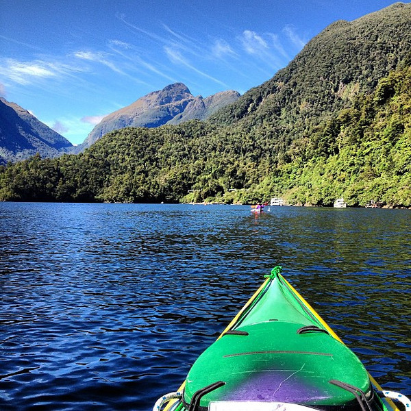 The view from our early morning sea kayak - Doubtful Sound, Fiordland