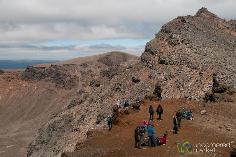 Resting at South Crater, Tongariro Crossing Trek - New Zealand