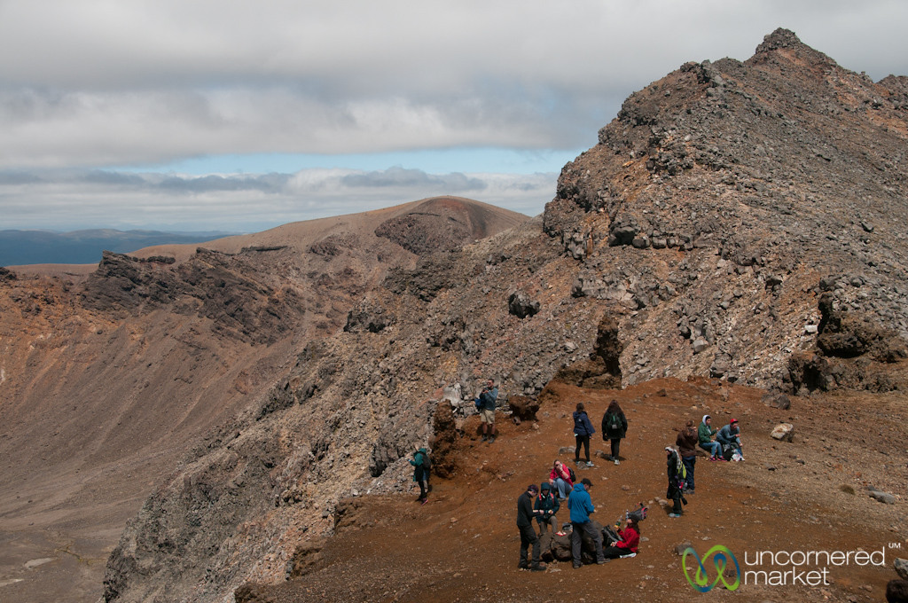 Resting at South Crater, Tongariro Crossing Trek - New Zealand