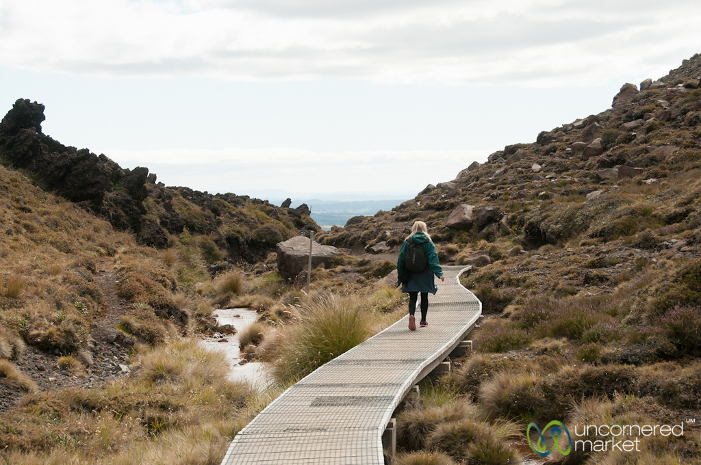Walking Down from Tongariro - New Zealand