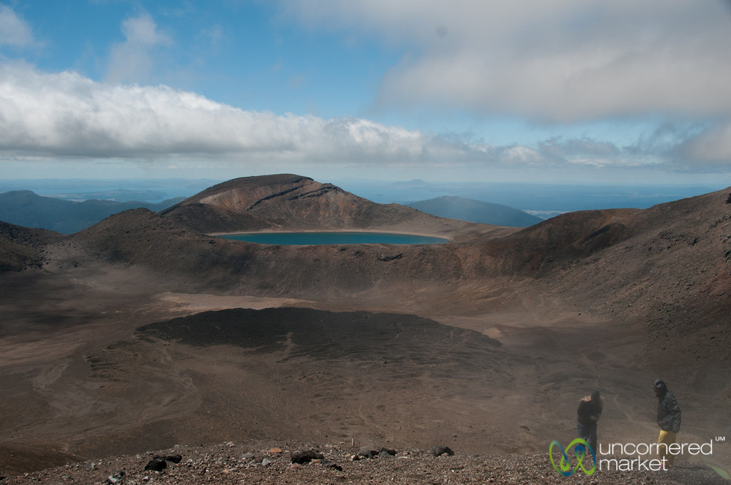 Tongariro Crossing, View of Blue Lake - New Zealand