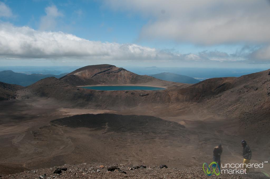 Tongariro Crossing, View of Blue Lake - New Zealand