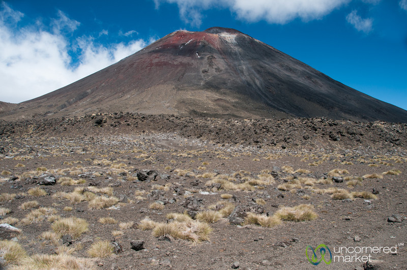 Trekking up to Tongariro Crossing, South Crater - New Zealand